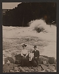 [Family in front of Whirlpool Rapids, Niagara Falls]