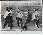 Demonstrator Attacked