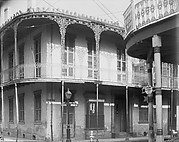 [Corner House with Cast-Iron Balcony, New Orleans, Louisiana]
