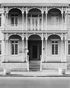 [Two-Story House with Cast-Iron Porch and Balcony, Mobile, Alabama]