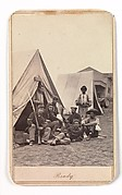 [Camp Scene with Soldiers of the 22nd New York State Militia, Harper's Ferry, Virginia]