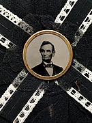 [Mourning Corsage with Portrait of Abraham Lincoln]
