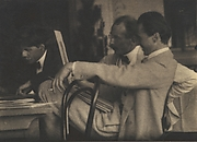 Stieglitz, Steichen and Kuehn Admiring the Work of Frank Eugene