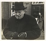 Winston Churchill Lighting a Match