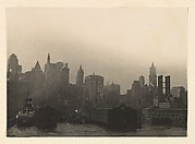 [Manhattan Skyline looking West from the East River near Pier 13, including the Singer Building and the Woolworth Building, New York City]