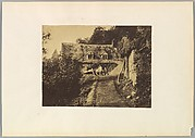 [Rustic Cottage with Figures and Carts]