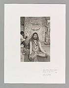 Naga Baba and Mural, Ashi Ghat, Benares, India
