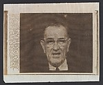 [Associated Press Wire Photograph of President Lyndon B. Johnson, Printed with Caption]