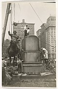 [George Washington Statue Reassembly, Union Square Park, New York]