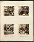 [View of Fountain and Byzantine Court; Bronze Fountain in Northern Nave; Monti's Fountain, and Alhambra Court; Alhambra Court from North Transept]