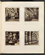 [Egyptian Court, Eastern Wall of Principal Court; Egyptian Court, Principal Facade towards the Nave; Lions in the Egyptian Court; [Colonnade Adorned with Egyptian Paintings]