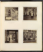 [Interior of Egyptian Court; Classical Sculpture Gallery with Discus-Thrower; View of Egyptian Court from Classical Sculpture Gallery; Foliage in the Egyptian Court]