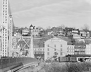 [View of Houses, Railroad Tracks, and Bridge Trussing, From Easton, Pennsylvania, Phillipsburg, New Jersey]