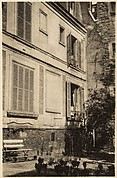 [View of Courtyard at  5, rue de la Santé, Paris, Showing Walker Evans' Room]