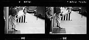 [7 Views of Pedstrians on Sidewalk, Possibly New York City]