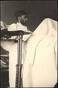 [Self-portrait in New York Hospital Bed (Right Profile, From Below), New York City]