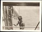 [Walker Evans, Aboard the Cressida, South Seas Trip]