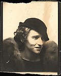 [Photobooth Portrait of Jane Evans Brewer]