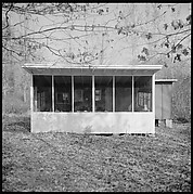 [4 Exterior Views of Walker Evans's House, Old Lyme, Connecticut]