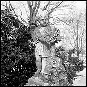 [12 Views of Greenwood Cemetery Monuments and Roadside Architecture in Clarksville, Tennessee]
