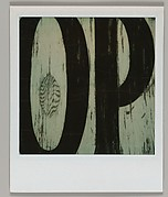 "[Detail of Sign Lettering: ""OP""]"