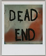 """[Detail of Hand-Painted Sign: """"DEAD END""""]"""
