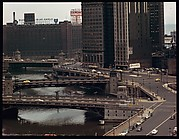 """[18 Views of Chicago River and Skyline, for Fortune Article """"Chicago River: The Creek That Made a City Grow""""]"""