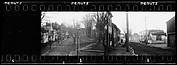 [Houses Along Street and Park, From Elevated Position, Possibly Newcastle, Delaware]