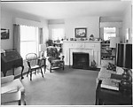 [Living Room Interior, Once Childhood Home of Walker Evans, Kenilworth, Ilinois]