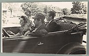 [Alma Agee, James Agee, and Delmore Schwartz in Convertible Car, New Jersey]