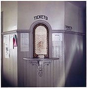 "[Two Prints of Ticket Window, Kingston, Rhode Island, For Fortune Article: ""The U.S. Depot""]"
