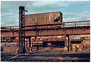 "[Two Prints of Reading Railroad Car on Elevated Track Above Yard, For Fortune Article ""Before They Disappear""]"