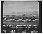 [Copy Photograph of Military Procession with Onlookers]
