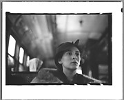 [Helen Levitt Seated in Elevated Subway Car, New York City]