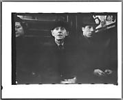 [Subway Passengers, New York City: Woman, Two Men]