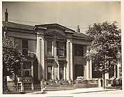 [Greek Revival House with Broken Pediment Above Full-Height Entry Porch, South End, Boston, Massachusetts]