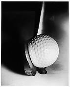 [Detail of Golf Club Hitting Ball]