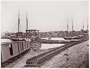 Unloading Supplies for U.S. Military Railroad opposite Richmond, Virginia