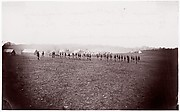 Camp of 34th Massachusetts Infantry, Miner's Hill, VA.  Skirmish Drill.