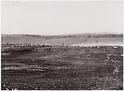 [Maneuvers, Union Cavalry, Winter Quarters].  Brady album, p. 127
