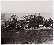 [Earthworks at the edge of a forest].  Brady album, p. 132