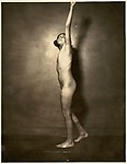 [Nude Young Girl with Arm Upraised]
