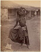 [A Gypsy Dancing-Girl, Kathiawar]