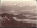 View of Darjeeling and Himalayas