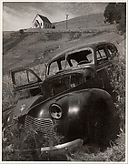Church and Abandoned Automobile, Tiburon, California