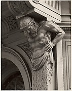 Cast Iron Figure, Old San Francisco Building, California