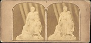 [Pair of Early Stereograph Views of British Statues]
