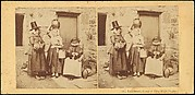 Llanberis, Group of Three Welsh Peasants