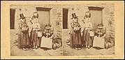 Llanberis, Group of Three Welsh Peasants