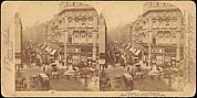 [Group of 3 Stereograph Views of Fleet Street, London, England]